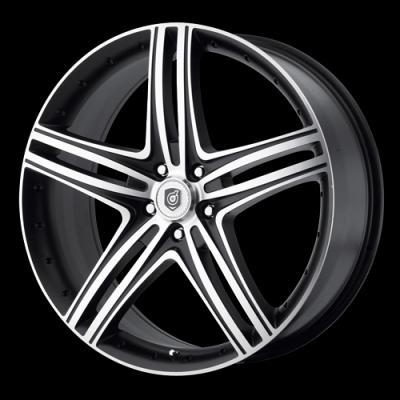 DS08 Matte Black Tires